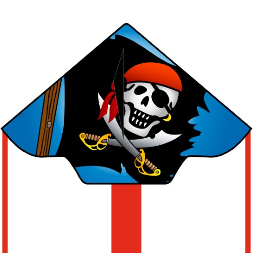 ECO:SIMPLE FLYER JOLLY ROGER 120CM 47""