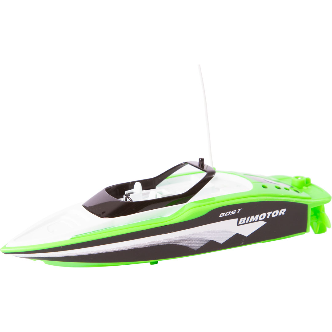 "RC MINI RACE BOAT ""GREEN"""