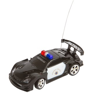 RC POLICE CAR BLACK/WHITE